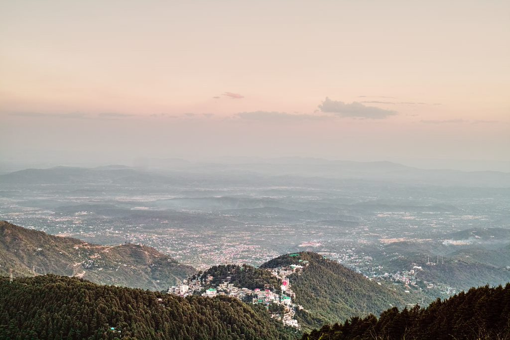 View from the second best viewpoint in Mcleodganj